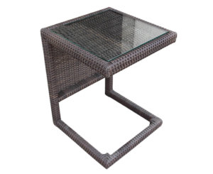 Cube End Table (Glass Top)