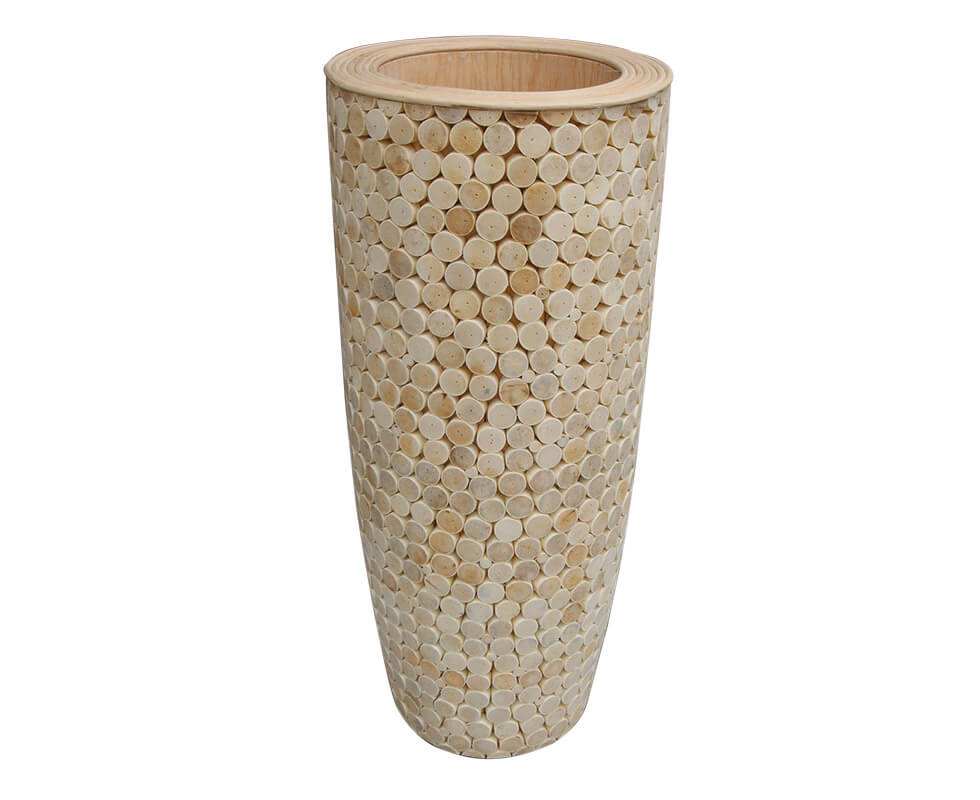 Rattan Head Flower Pot