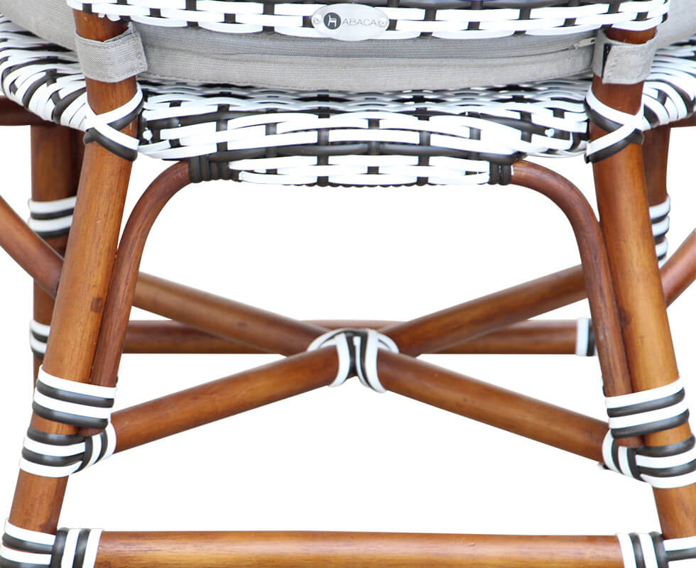 Rattan Bistro Dining Chair Detail