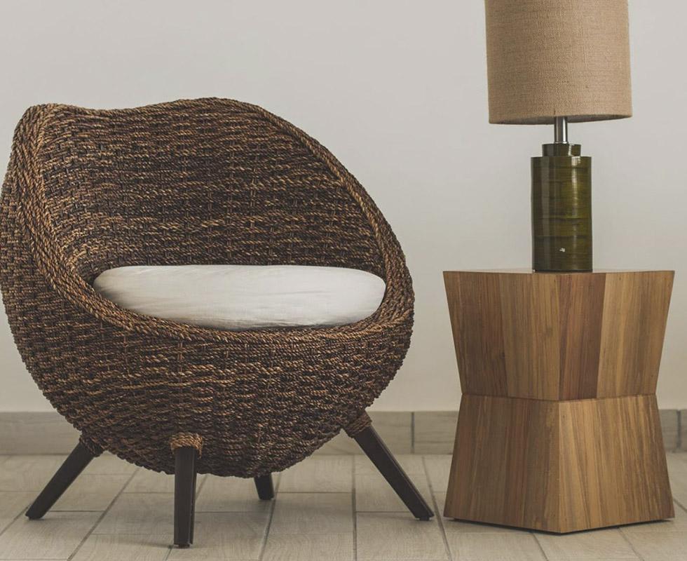 Muna Lounge Chair Dark Rope