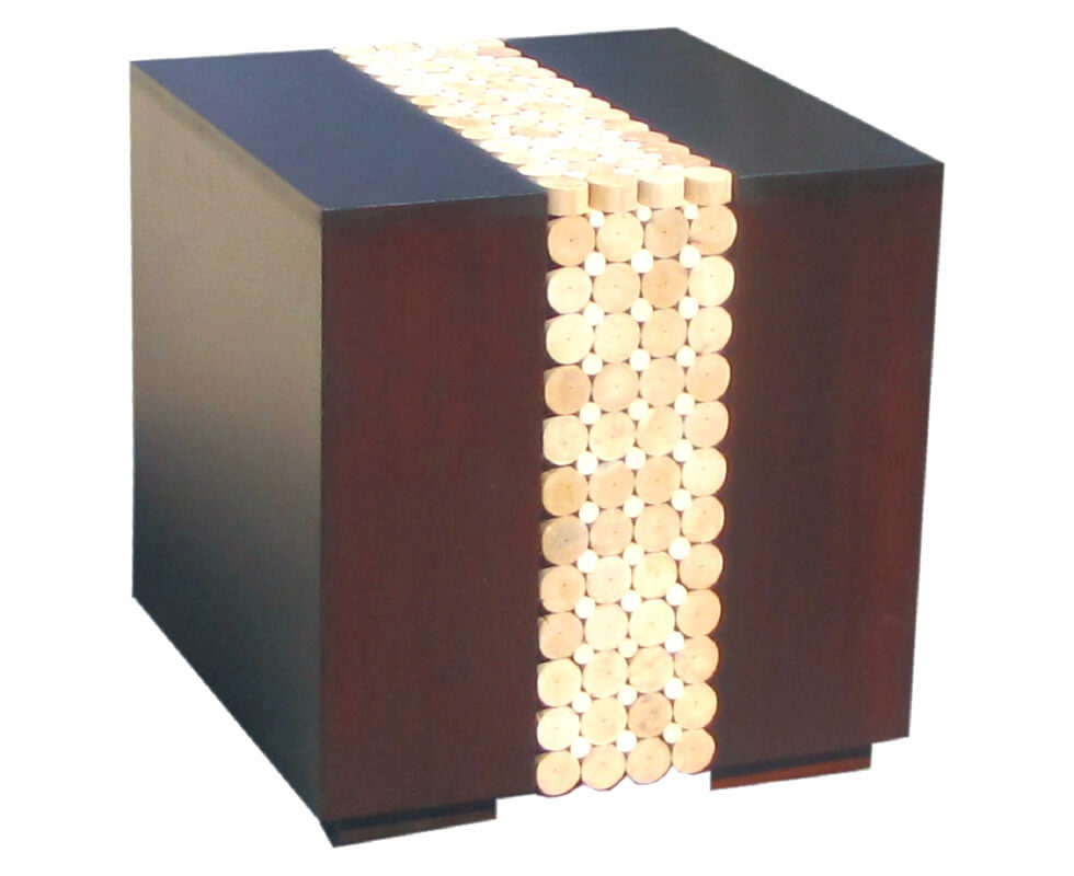 Rattan Head corner table