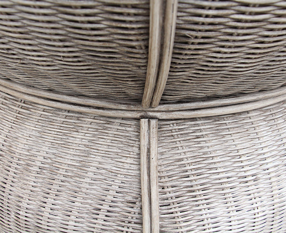 Palm Center Table Wicker Detail