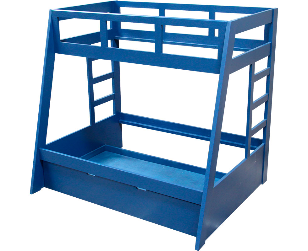BUNK BED TWIN/QUEEN W/ ADDITIONAL FULL